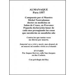 Almanaque Para El Año 1557 http://www.caesaremnostradamus.com/