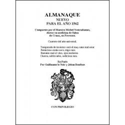 Almanaque Nuevo Para 1562 De Nostradamus http://www.caesaremnostradamus.com/